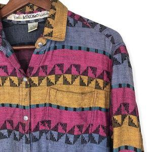 Vintage 90s Kikomo Classic Western Button Down L